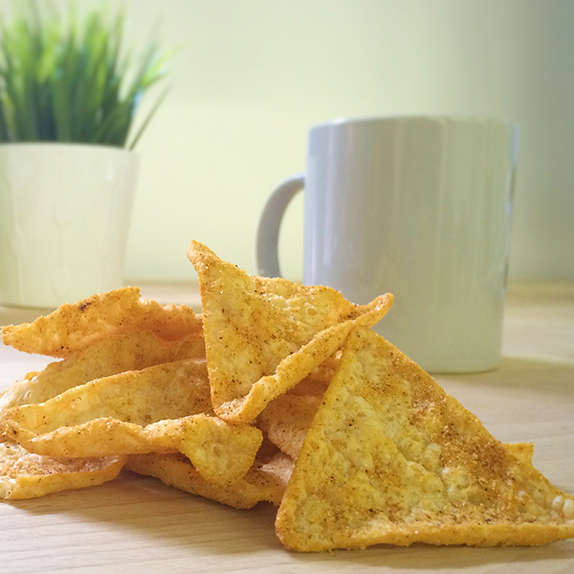 Crunchy Cheddar Cheese High Protein Tortilla Chips