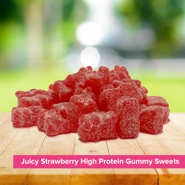 Juicy Strawberry High Protein Gummy Sweets