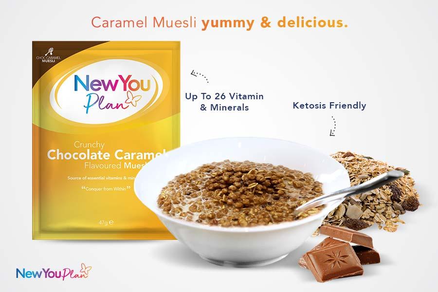 Crunchy Chocolate Caramel TFR VLCD Muesli