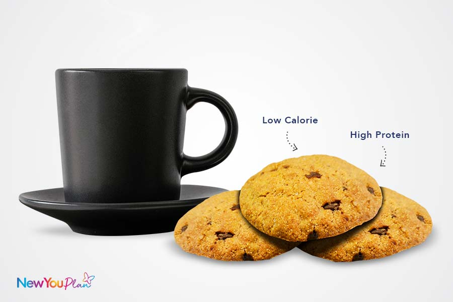Crumbly Chocolate Chip High Protein Cookies