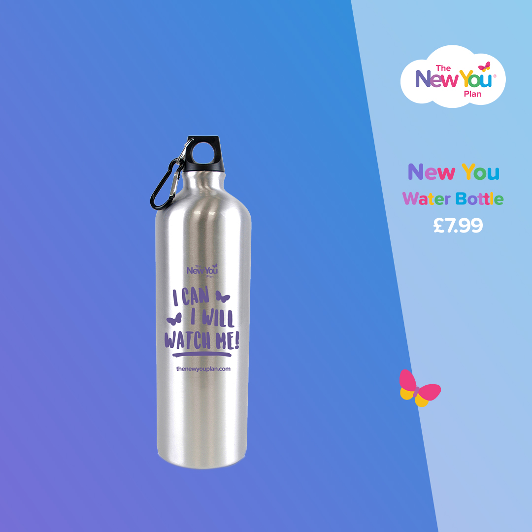 Brushed Metal Water Bottle (1L)