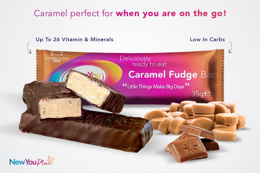 NEW RECIPE Smooth Caramel Fudge TFR VLCD Bar