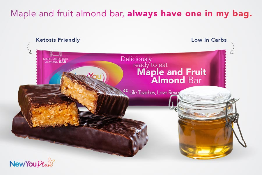 Delicious Maple and Fruit Almond Total Bar