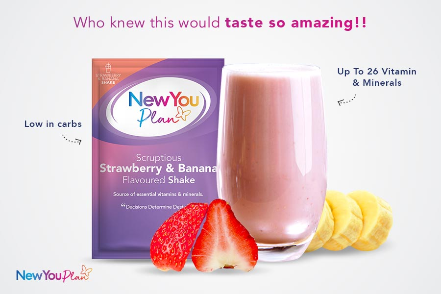 Strawberry & Banana TFR VLCD Smoothie