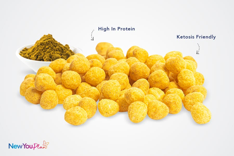 High Protein Curry Flavoured Snack Balls