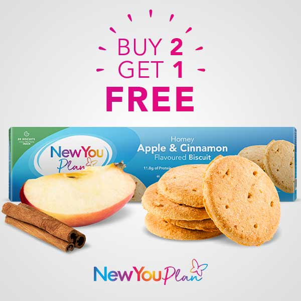 Buy 2 Get 1 Free Apple and Cinnamon Biscuits