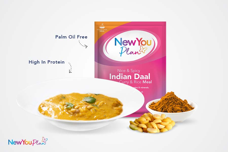 Indian Daal Curry & Rice Meal