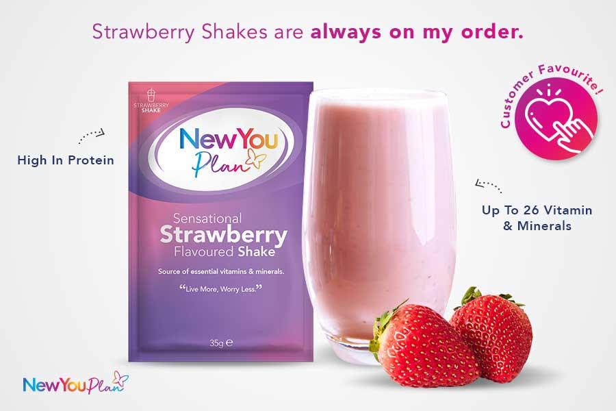 Sensational Strawberry Total Shake
