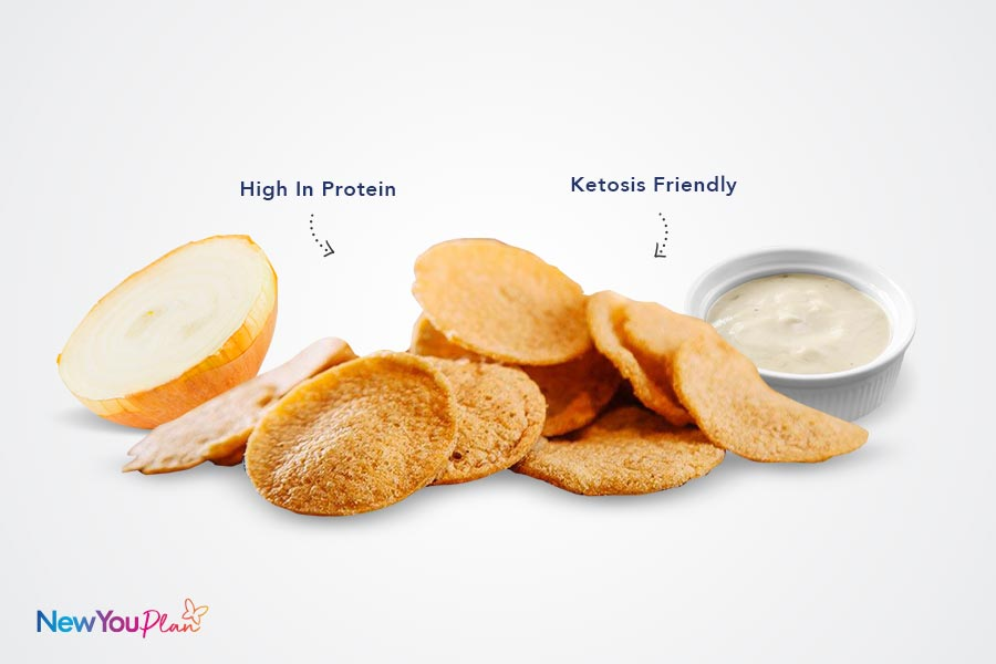 Cream Onion High Protein Crisps